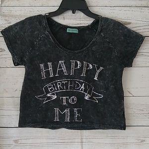 Workshop Happy Birthday soft cropped top